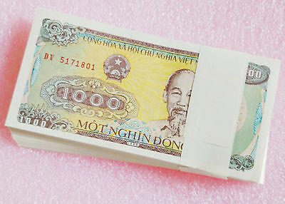 Vietnam 1000 Dong Banknote papermoney Full Bundle 100PCS 1988UNC not consecutive