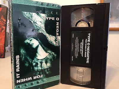 Type O Negative - For When it Rains VHS, RARE, goth, industrial, 90's