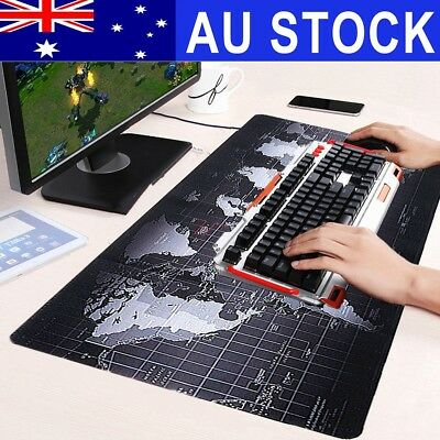 70 x 30cm Non-Slip World Map Gaming Mousepad Speed Game Laptop Mouse Pad Mat