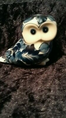 Blue and white china owl