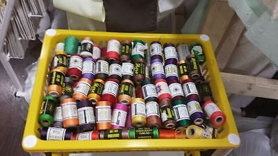 Job Lot Of Bright And Beautiful Silk Embroidery Thread Spools