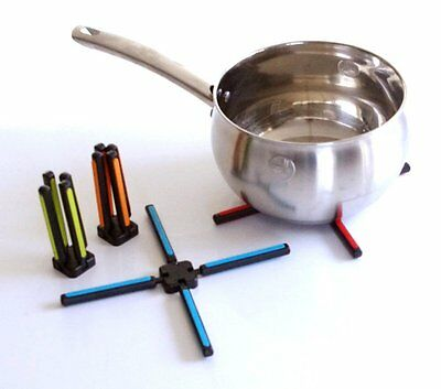 Folding Silicone Pan Stand Trivet Protect expensive work surfaces from hot pans