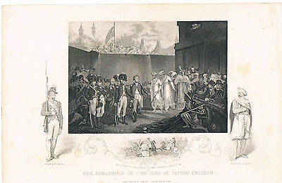 Engraving The Surrender Of Two Sons Of Tippoo Sultaun John Tallis And Co London