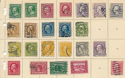 USA early United States stamp collection from 1920 ? on album page U S A