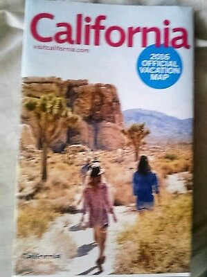 California 2016 Official Vacation map pull out type