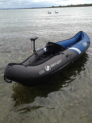 inflatable KAYAK SEVYLOR 1 Pers RIO canoe+motor