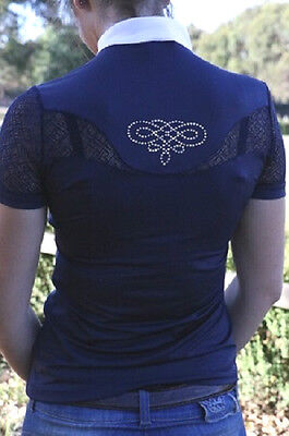 Fair Play Cecile Ladies Competition Shirt In Navy
