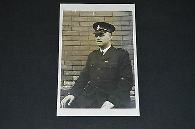 Vintage POLICE real photo RP postcard 1950s policeman officer portrait