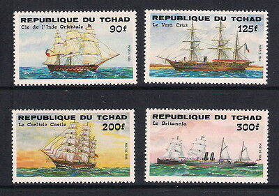 Chad stamps - 1984 Transport Ships, SG749/752, MNH