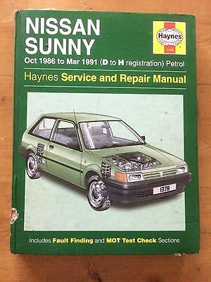 Haynes Nissan Sunny Oct 86-Mar 91 D-H Reg Workshop Manual