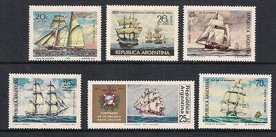 Argentina stamps - 1970-1973 Various issues featuring Ships, MNH