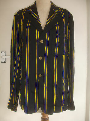 Vintage 20's30s striped boating blazer jacket college mod Indie  Xmas/NYr Party