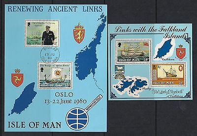 Isle of Man stamps - 2 Isle of Man Minisheets from the 1980's