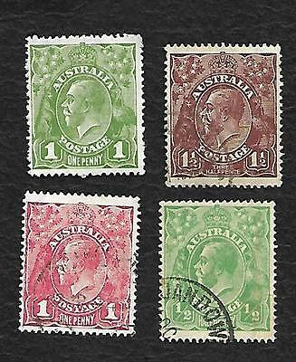4 X Kgv Used Lge Multi Wmk -Different--Nice Lot