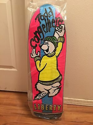 Liberty Todd Congelliere Icee Bear OG 10x32 SIGNED Re-issue Skateboard Deck!