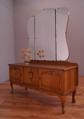 860 !! Vintage Dressing Table With Mirror In Louis Xv Style !!