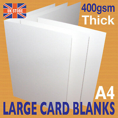 10 x A4 LARGE White Card Blanks Thick 400gsm Crafts & Cardmaking