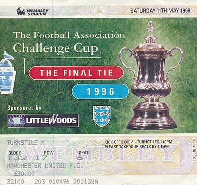 TICKET: FA CUP FINAL 1996 Liverpool v Manchester United