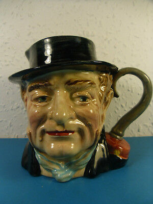 Beswick England Dickens Captain Cuttle Large Character Milk Jug. Hand Painted