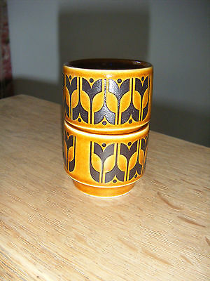 Hornsea Pottery egg cups Saffron and Heirloom