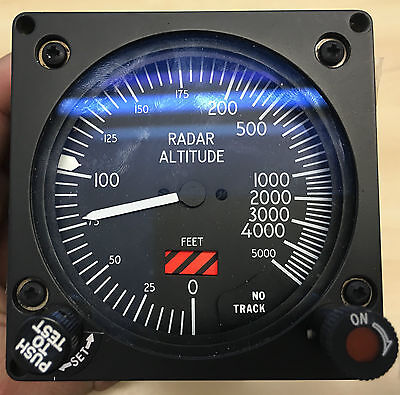 Smiths Industries RAF Aircraft Cockpit Radar Altitude Indicator