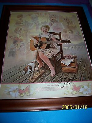 Dolly Parton 16 X 20 Framed Autographed Poster 'dolly` Dream