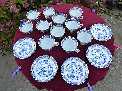 Woods And Son Yuan England Rd. No. 656368 circa 1916/17. 11 cups 5 Saucers