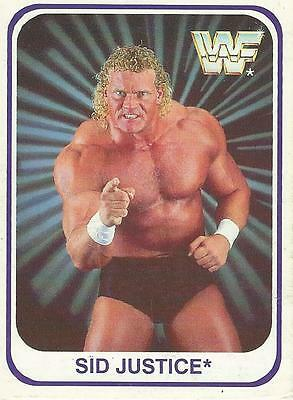 WWF WWE 1991 Trading Cards (German Version) Card 128 Sid Justice