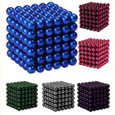 3/5mm 216pcs Magnet Balls Magic Beads 3D Puzzle Ball Sphere Magnetic Kids toy
