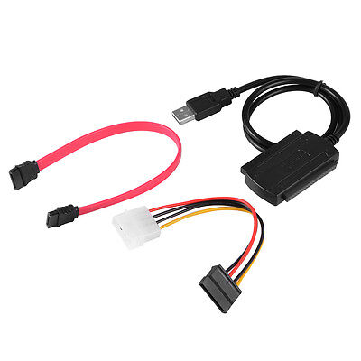 """USB 2.0 to SATA IDE 2.5"""" 3.5"""" Adapter Transfer Cable Kit Hard Disk HDD AC600"""