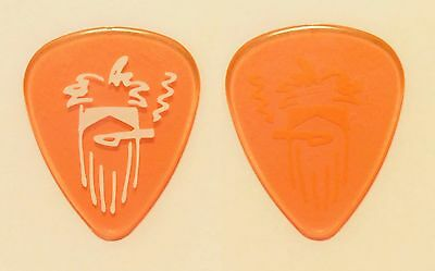 ZZ Top Billy Gibbons Caricature Clear Orange Guitar Pick - 2012 Tour