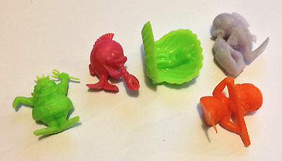 R&l Cereal Toys 1969 Neptunes Band ~ Lot Of 5 ~ Original Aussie Kelloggs