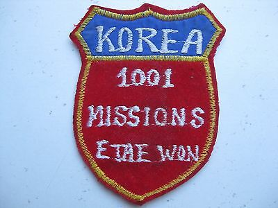 Original Squadron Patch Air Force Usaf In Korea Unknown 1001 Missions E Tae Won