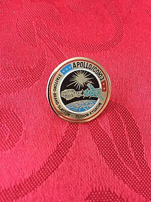 NASA Apollo Soyuz  Space Exploration Mission Enamel Pin Badge