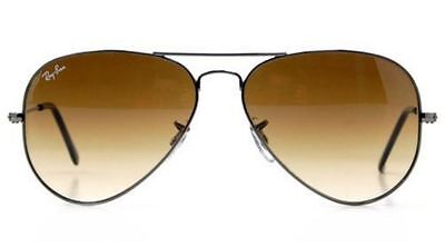 Genuine Ray-Ban 3025 Aviator Replacement Lenses: Grad Brown Glass Multicoat