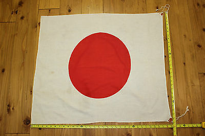 WWII-ish Aged Japanese Meatball Rising Sun Flag FREE SHIPPING COTTON