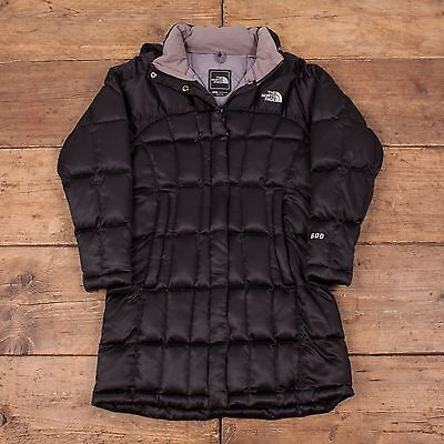 Girls Vintage North Face Goose Down Quilted Winter Coat Black Size M R3870