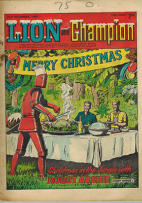 LION AND CHAMPION COMIC Christmas 1966 issue LOOK!