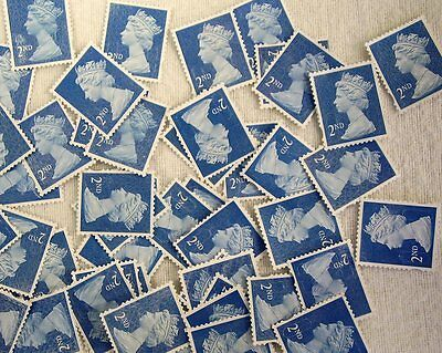 10 2nd Class unfranked Stamps off paper