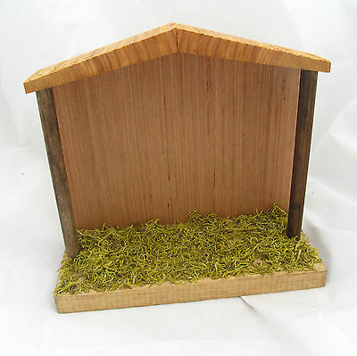 """8"""" Empty Handmade Country Primitive Christmas Nativity Stable Wood Wooden Manger"""