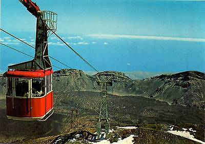 Teide - The cable car to the summit - Tenerife - Postcard