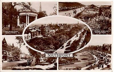 Southport - Multiview - Valentine's Postcard posted 1946