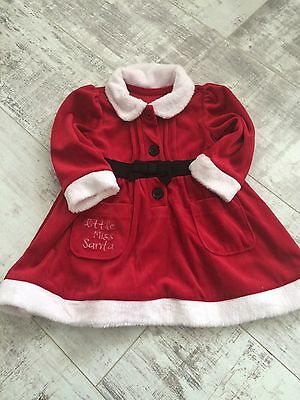 Baby Girls Red Santa Dress Outfit 6-9 Months