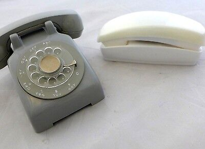 Western Electric Style 1960's Salesman Sample Rotary Phone Trimline White