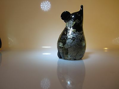 Reduced!! Isle of Wight Maximal Glass gold and silver Azurene Mouse. A/F