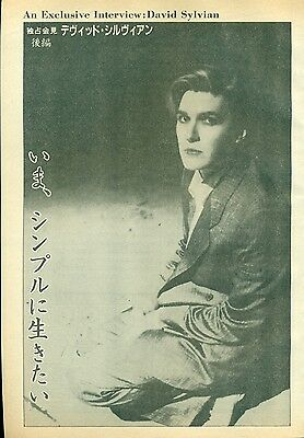 Japan / David Sylvian / Mick Karn - Clippings Japanese Mag Music Life 10/1983