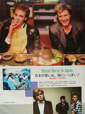 Duran Duran In Japan - Clippings From Japanese Magazine Music Life