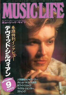 Japan / David Sylvian - Front Cover + Clippings Japanese Mag Music Life 9/1983