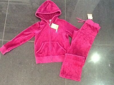 NWT Juicy Couture New Gen. Girls Age 8 Pink Velour Tracksuit & Scotty Dog Logo