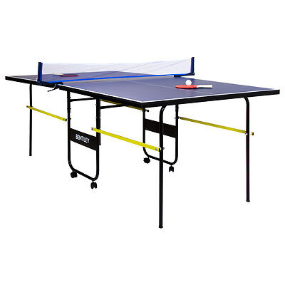 "Charles Bentley 3/4 Junior Folding Table Tennis Table (6Ft9"") - Bats Balls & Net"